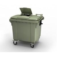 Мусорный контейнер 1100 л с крышкой, с опцией 'крышка в крышке'