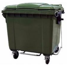 Мусорный контейнер 1100 л с крышкой и педалью