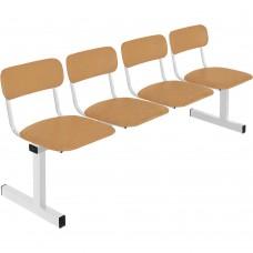 Секция стульев четырехместная М-113-04 четырехместная